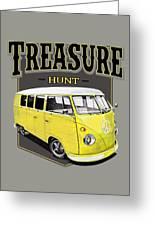 Treasure Hunt Bus Greeting Card