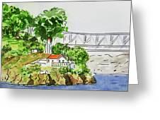 Treasure Island - California Sketchbook Project  Greeting Card