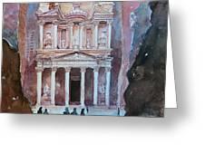 Treasury Building Petra Jordan Greeting Card