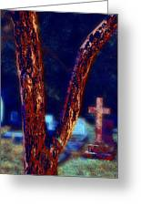 Tree And Cross Greeting Card by Jill Tennison