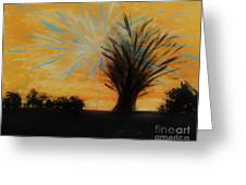 Tree And Lightning Greeting Card by Marie Bulger