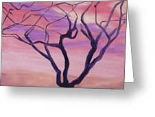 Tree At Sunset Greeting Card