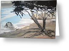 Tree By The Sea By Betty Greeting Card