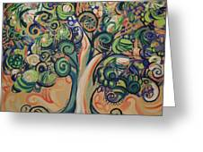 Tree Candy Greeting Card by Genevieve Esson