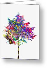 Tree-colorful Greeting Card