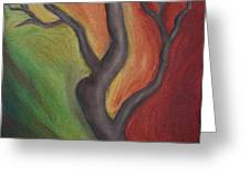 Tree Dancing Greeting Card