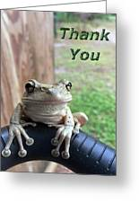 Tree Frog Thank You Greeting Card