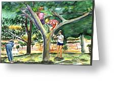 Tree Fun Study Greeting Card