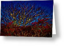 Tree Glow In The Dark Greeting Card