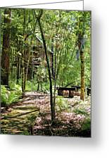 Tree House In The Woods Greeting Card