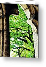 Tree In A Medieval Frame Greeting Card