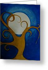 Tree In Moon Light Greeting Card