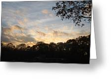 Tree Line And Clouds Greeting Card