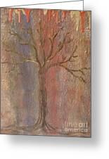 Tree - Metallic 1 Greeting Card