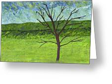 Tree No Leaves Greeting Card