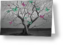 Tree Of Butterflies  Greeting Card
