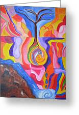 Tree Of Color Greeting Card