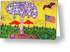 Tree Of Freedom And Glory Greeting Card