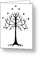 Tree Of Gondor Crest Greeting Card