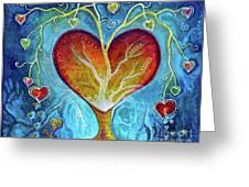 Tree Of Hearts Greeting Card