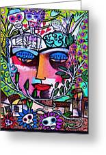 Tree Of Life Face Greeting Card