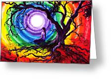 Tree Of Life Meditation Greeting Card
