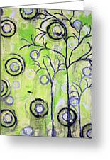 Tree Of Life Spring Abstract Tree Painting  Greeting Card
