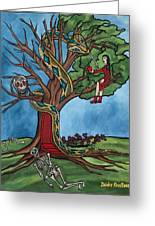 Tree Of Life Temptation And Death Greeting Card