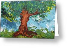 Tree Of Plenty Greeting Card