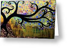Tree On A Hill 5 Greeting Card
