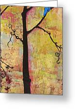 Tree Print Triptych Section 2 Greeting Card by Blenda Studio