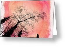Tree Silhouettes I Greeting Card