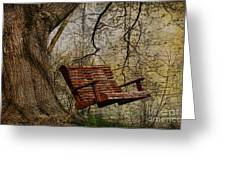 Tree Swing By The Lake Greeting Card