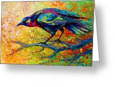 Tree Talk - Crow Greeting Card