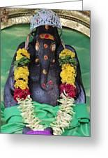 Tree Temple Ganesha, Valparai Greeting Card