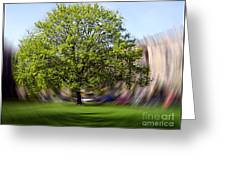 Tree With Animated Surroundings Greeting Card