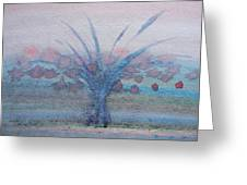 Tree With Balls Four Greeting Card