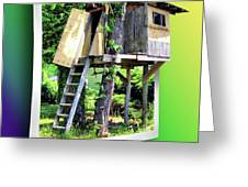 Treehouse Fort Greeting Card