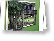 Treehouse Playground Greeting Card