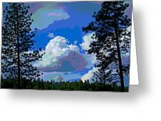Trees And A Cloud For Crying Out Loud Greeting Card
