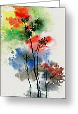 Trees In Colors Greeting Card