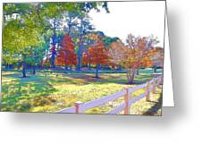 Trees In Park 1 Greeting Card