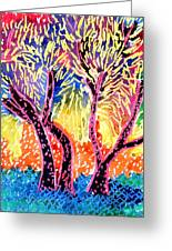 Trees In Summer Greeting Card