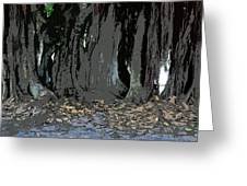 Trees Of The Banyan Greeting Card