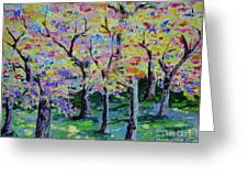 Trees On Hideaway Ct Greeting Card