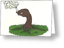 Trees Smokin' Trees Greeting Card