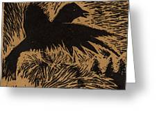Treetop Crow Greeting Card