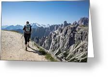Trekking Greeting Card