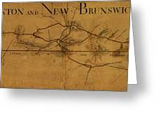 Trenton New Brunswick Turnpike 1800 Greeting Card