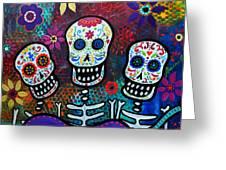Tres Amigos Greeting Card by Pristine Cartera Turkus